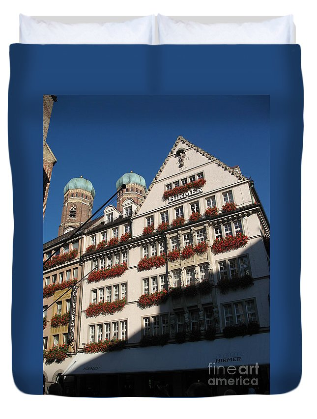 City Duvet Cover featuring the photograph Munich City by Christiane Schulze Art And Photography