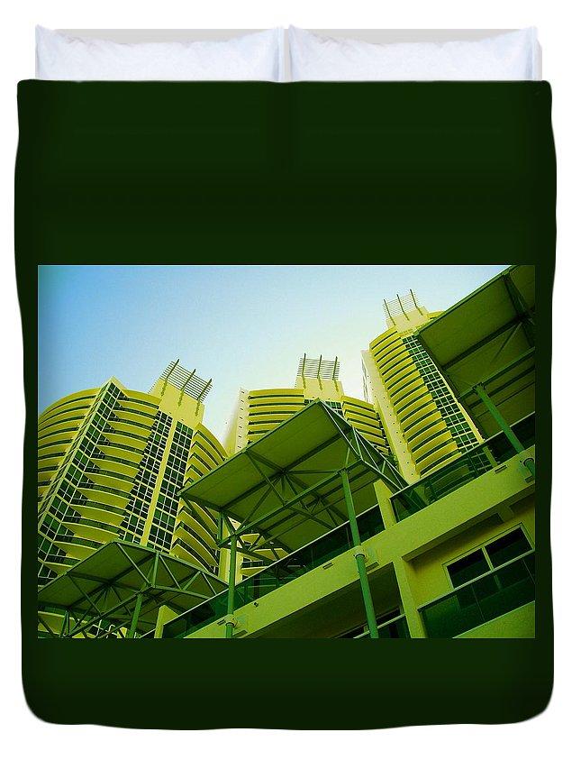 Duvet Cover featuring the photograph Murano Grande, Miami II by Monique's Fine Art