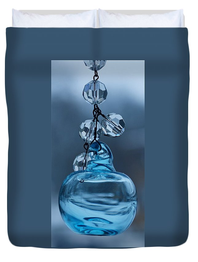 Hand Blown Venetian Glass Duvet Cover featuring the photograph Murano Memories Two by Ira Shander