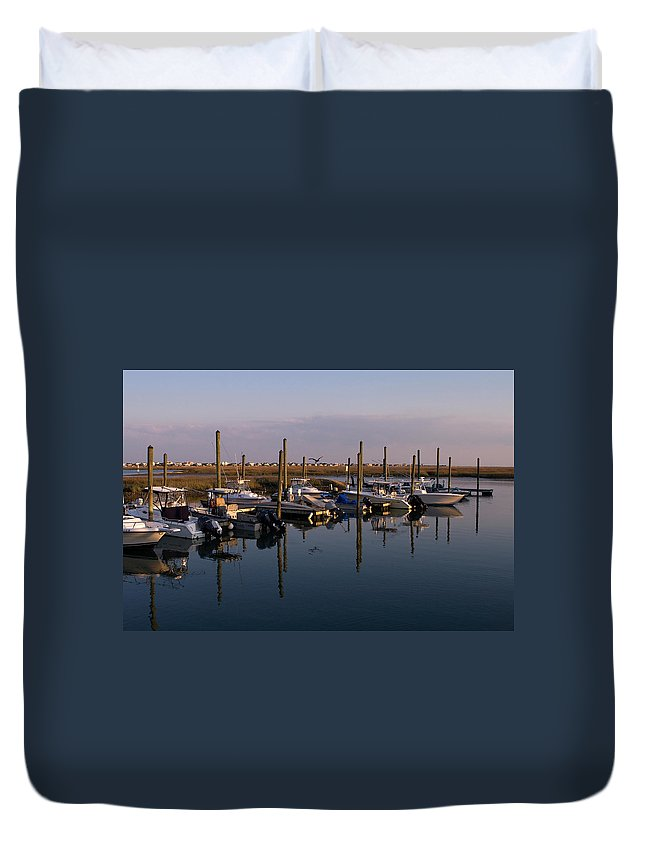 Murrels Inlet Duvet Cover featuring the photograph Murrels Inlet South Carolina by Stephanie McDowell
