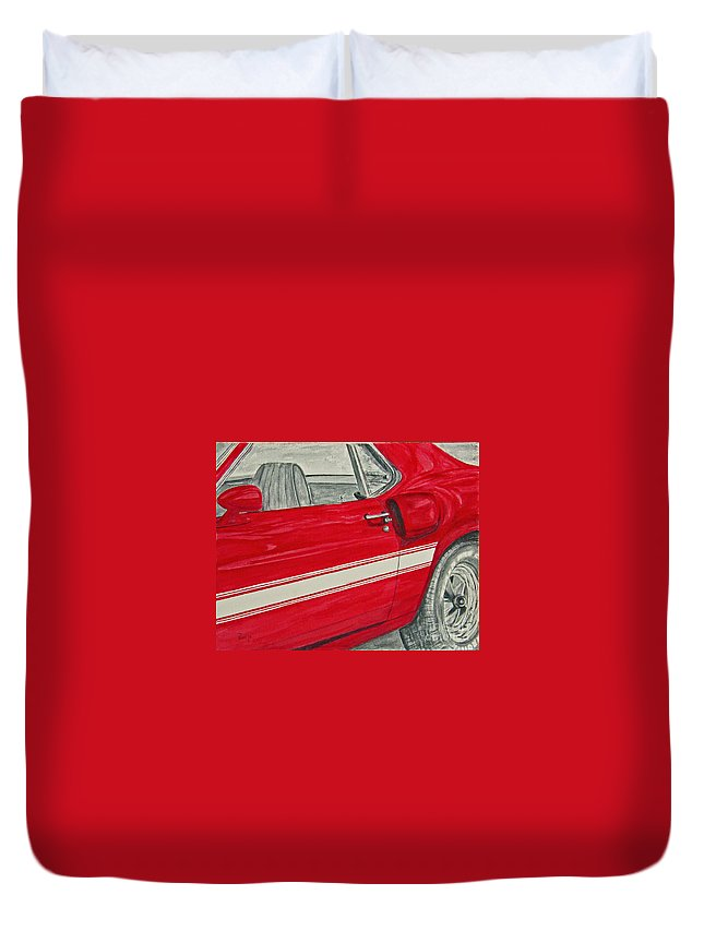 Car Duvet Cover featuring the painting Muscles by Regan J Smith