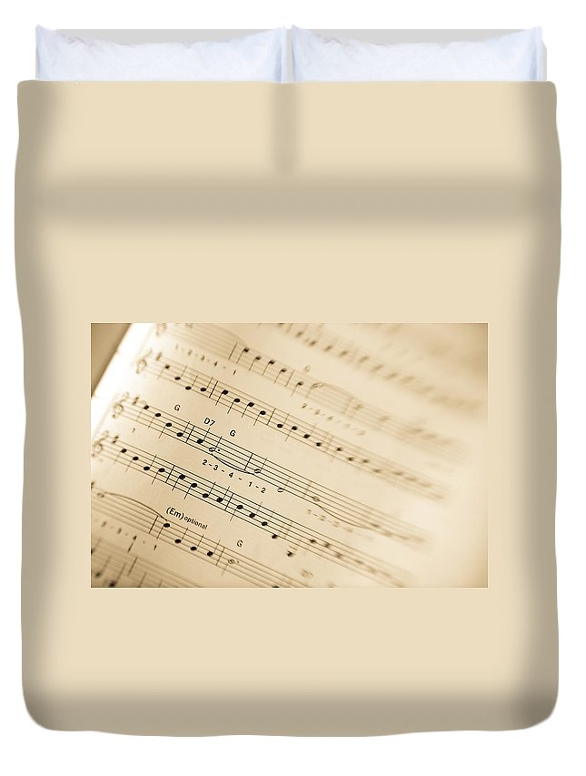 Music Duvet Cover featuring the photograph Music by Alexey Stiop