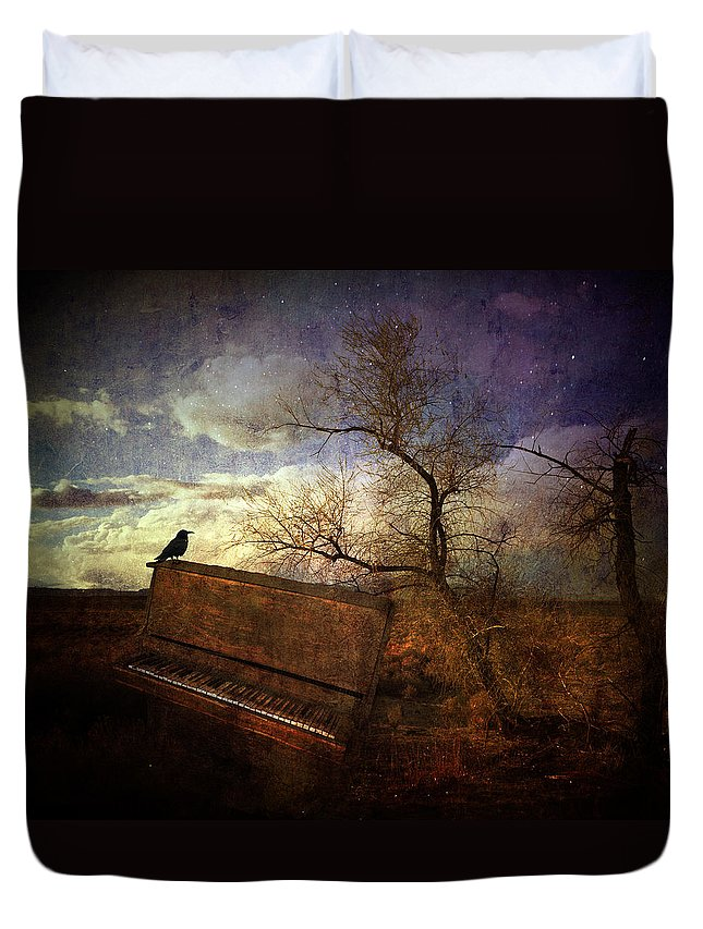 Antique Duvet Cover featuring the photograph Music Of The Wind by Michele Cornelius