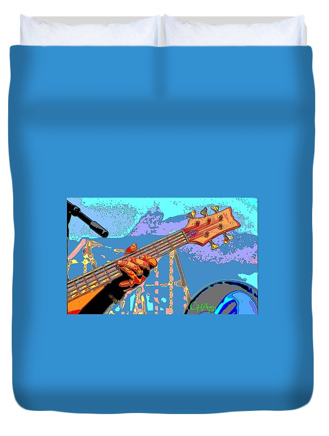 Guitar Duvet Cover featuring the photograph Music Out Of Metal Vi by C H Apperson