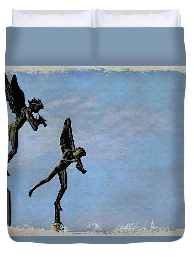 Angels Duvet Cover featuring the photograph Musical Angels by Alice Gipson