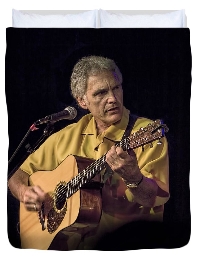 Art Duvet Cover featuring the photograph Musician And Songwriter Verlon Thompson by Randall Nyhof