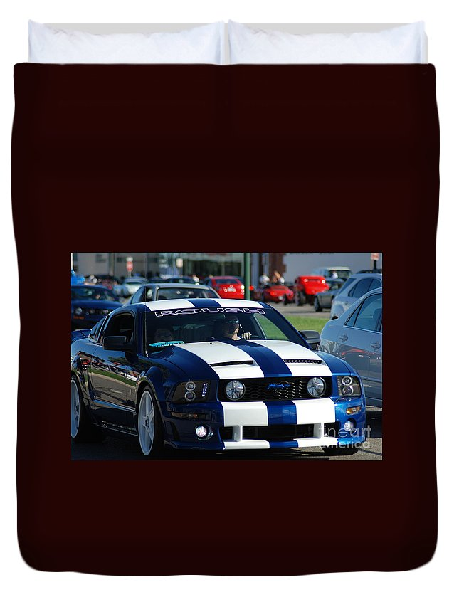 Duvet Cover featuring the photograph Mustang by Optical Playground By MP Ray