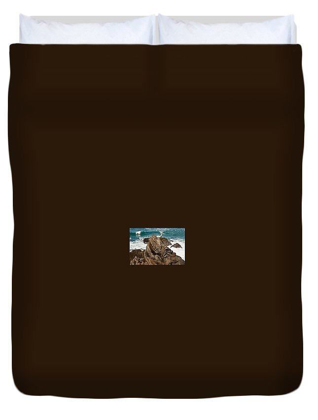 Rocks Duvet Cover featuring the photograph My Favorite Rock. by Brian Williamson