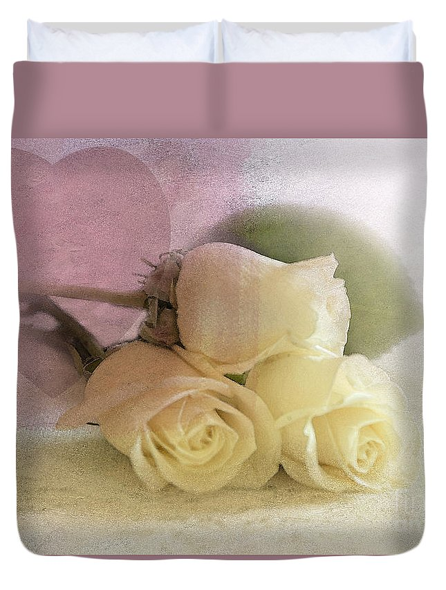Rose Duvet Cover featuring the photograph My Heart by Betty LaRue
