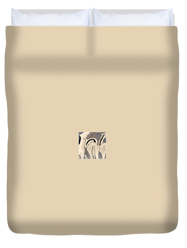 Horses Duvet Cover featuring the painting My Horses Ass by Lance Headlee