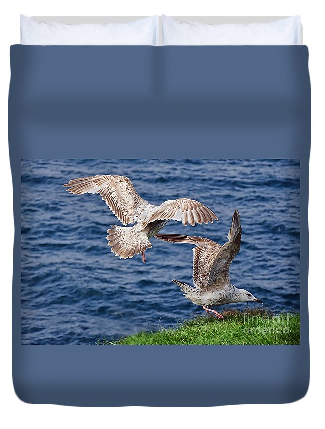 Port Isaac Duvet Cover featuring the photograph My Spot by Susie Peek