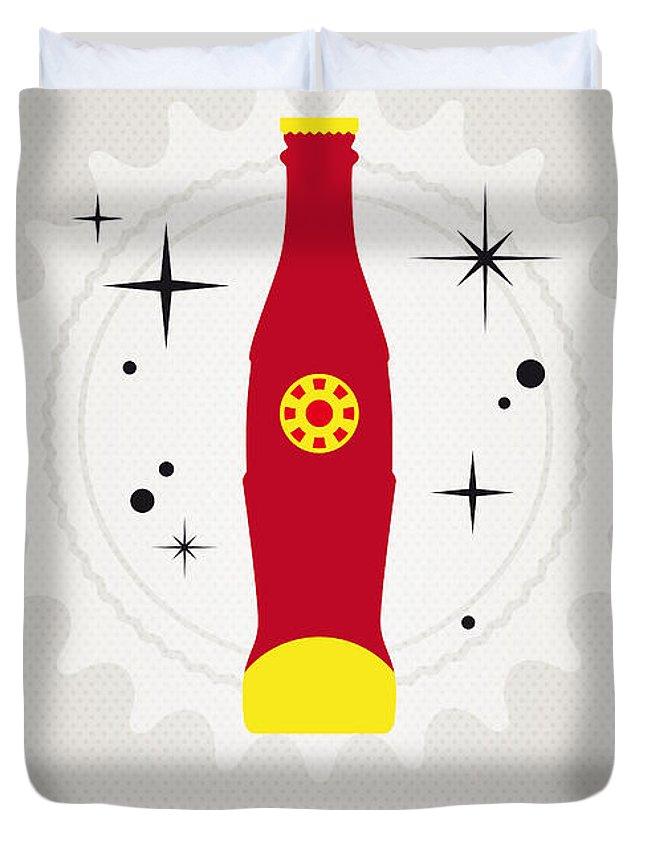 Ironman Duvet Cover featuring the digital art My Super Soda Pops No-09 by Chungkong Art