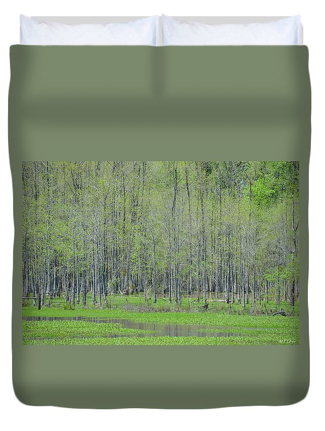 Mysterious Marshlands Duvet Cover featuring the photograph Mysterious Marshlands by Maria Urso