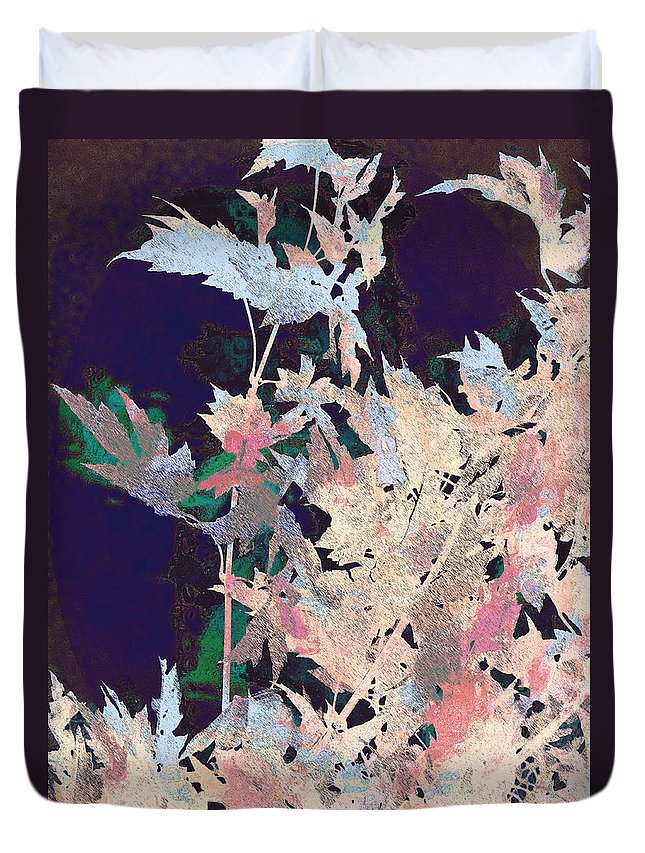Semi-abstract Duvet Cover featuring the photograph Mystic Autumn by Lenore Senior