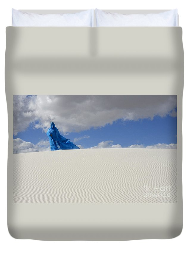 Dream Duvet Cover featuring the photograph Mystic Blue 10 by Bob Christopher