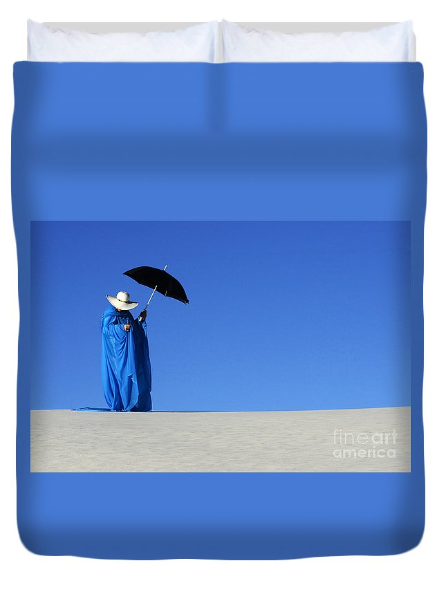 Dream Duvet Cover featuring the photograph Mystic Blue 6 by Bob Christopher