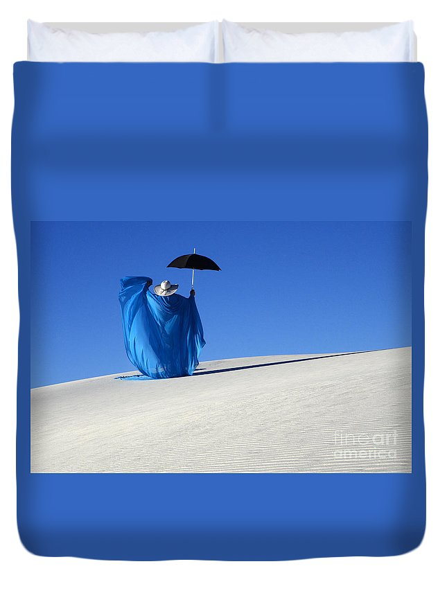 Dream Duvet Cover featuring the photograph Mystic Blue 7 by Bob Christopher