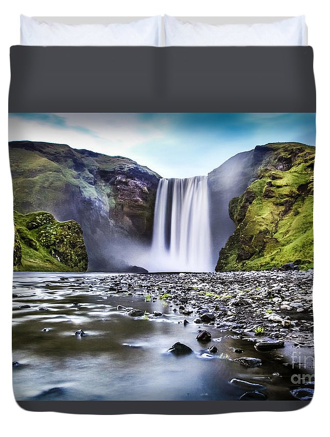 Iceland Duvet Cover featuring the photograph Mystic Iceland by JR Photography