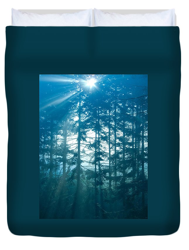 Nature Duvet Cover featuring the photograph Mystic Light by Daniel Csoka