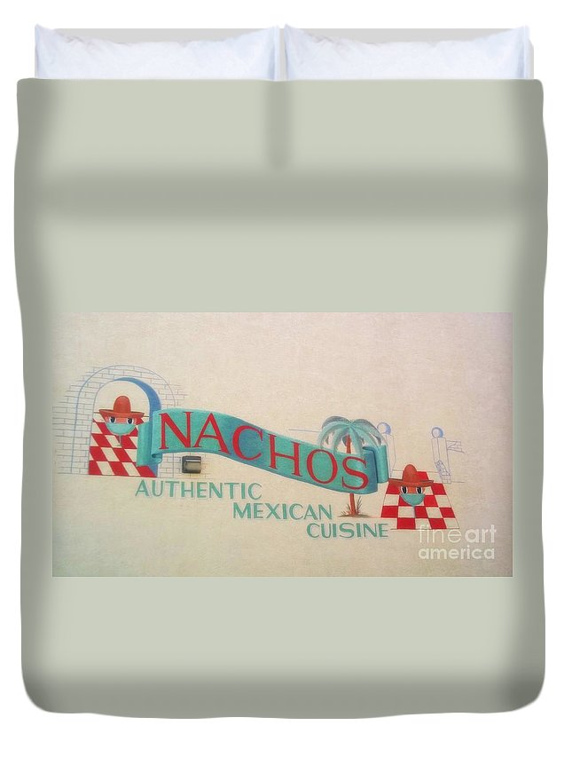 Duvet Cover featuring the photograph Nachos by Kelly Awad