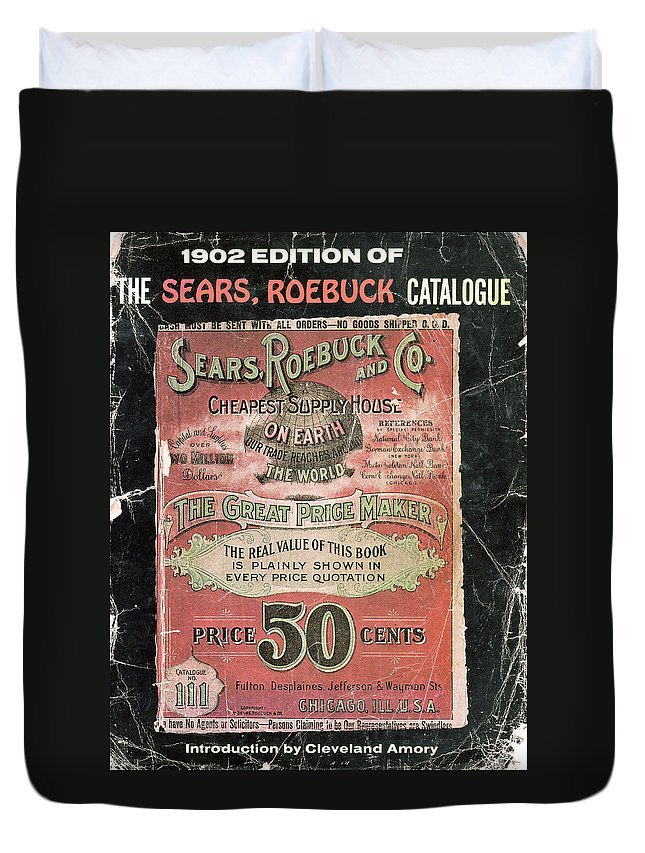 Sears Duvet Cover featuring the photograph Name Says It All 1902 by Randall Branham
