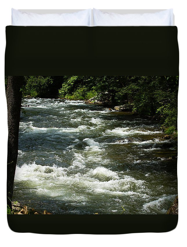 River Duvet Cover featuring the photograph Nantahala River by Christy Cox