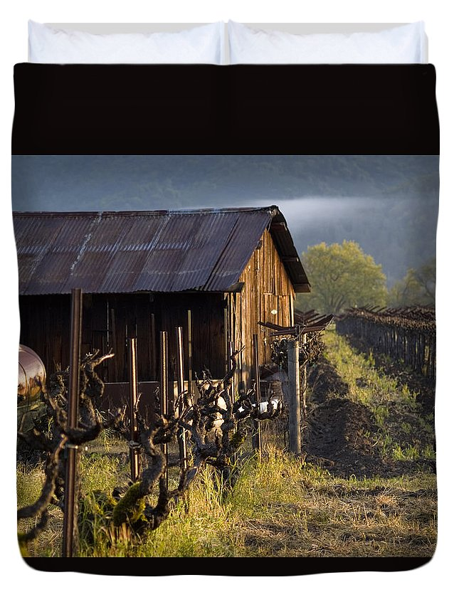 Napa Duvet Cover featuring the photograph Napa Morning by Bill Gallagher