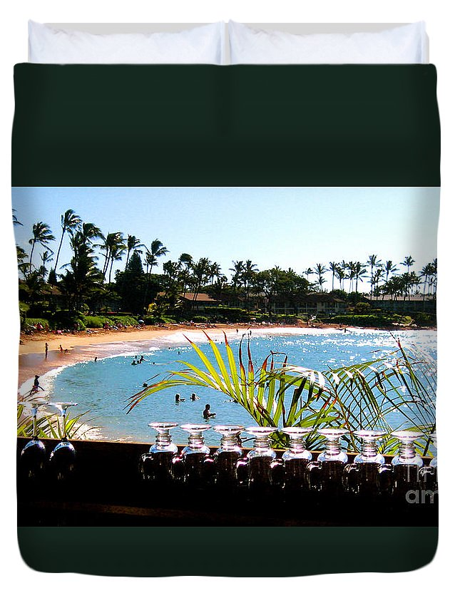 Napili Duvet Cover featuring the photograph Napili Bay Maui Hawaii by Jerome Stumphauzer