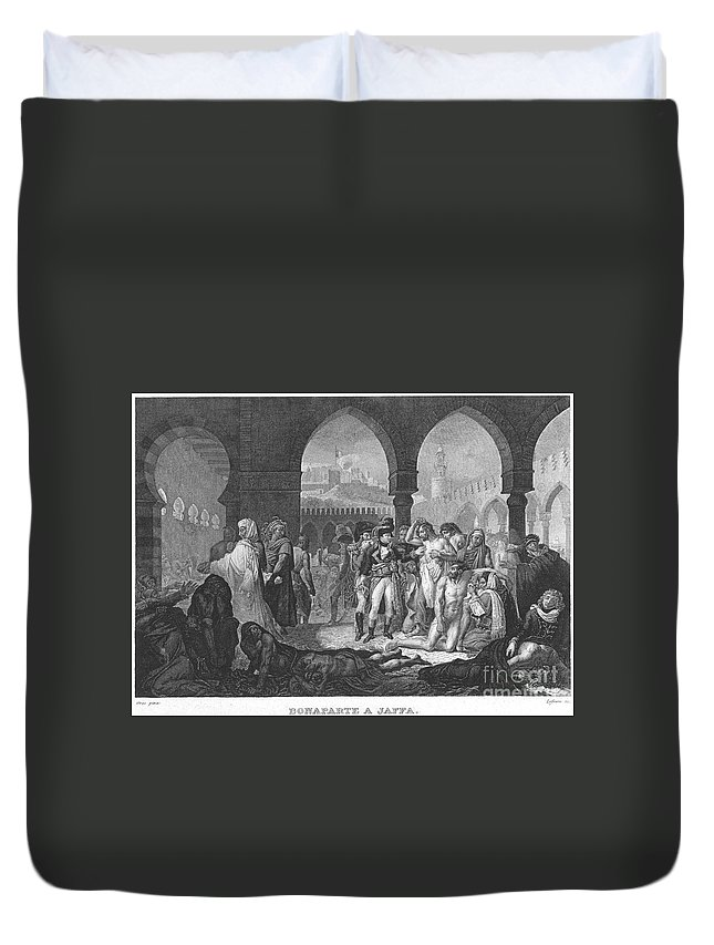 1799 Duvet Cover featuring the photograph Napoleon At Jaffa, 1799 by Granger