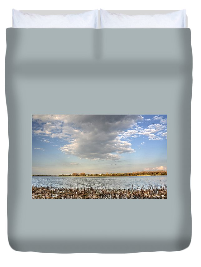 Mazovia Duvet Cover featuring the photograph Narew River Near Serock In The Vicinity Of Warsaw by Julis Simo