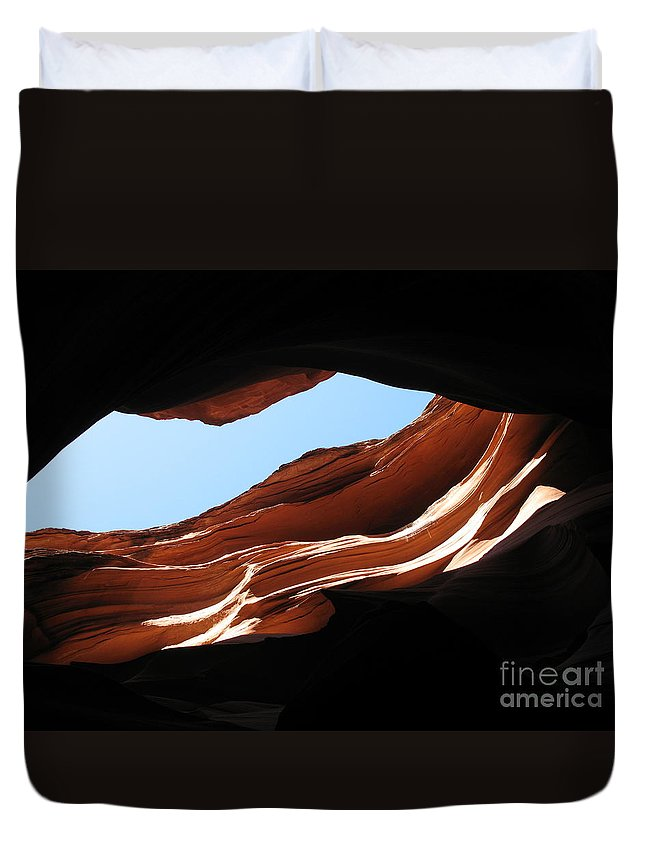 Canyon Duvet Cover featuring the photograph Narrow Canyon Vi by Christiane Schulze Art And Photography