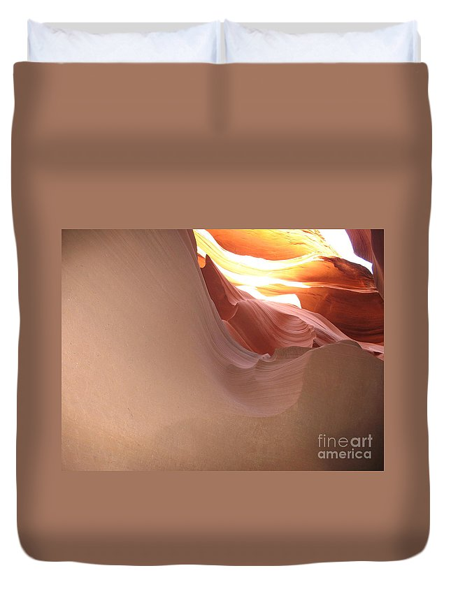 Canyon Duvet Cover featuring the photograph Narrow Canyon Vii by Christiane Schulze Art And Photography