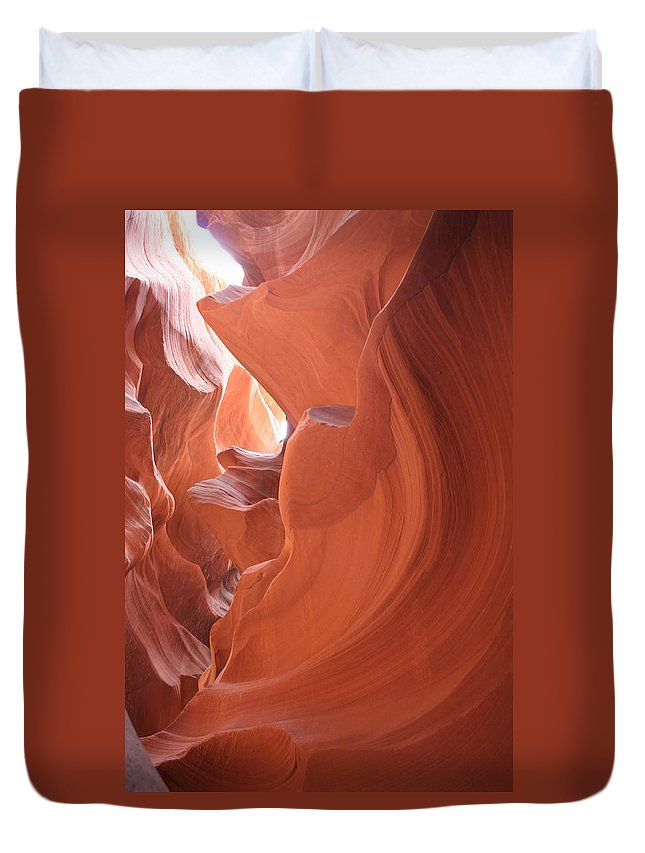 Canyon Duvet Cover featuring the photograph Narrow Canyon Xi by Christiane Schulze Art And Photography