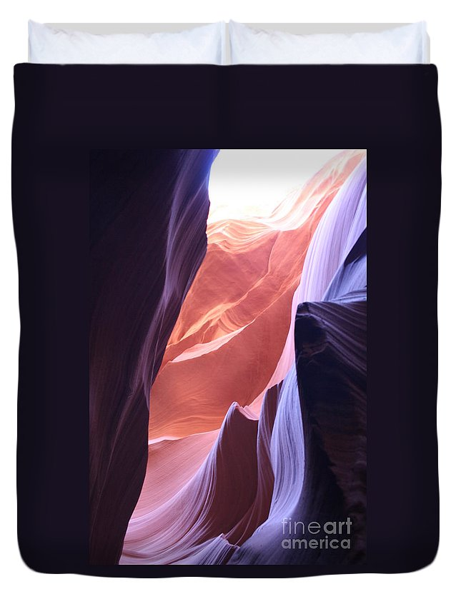 Canyon Duvet Cover featuring the photograph Narrow Canyon Xvi - Antelope Canyon by Christiane Schulze Art And Photography