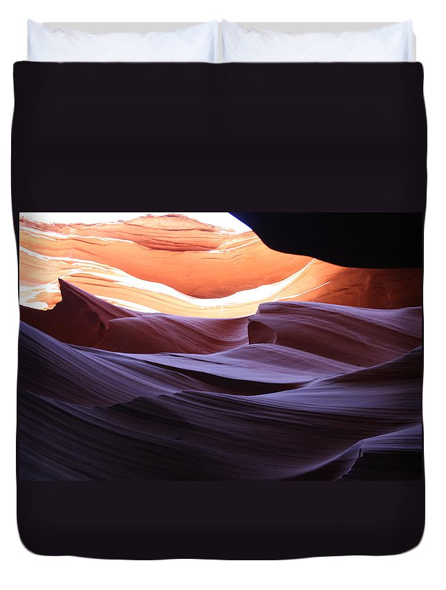 Canyon Duvet Cover featuring the photograph Narrow Canyon Xviii by Christiane Schulze Art And Photography
