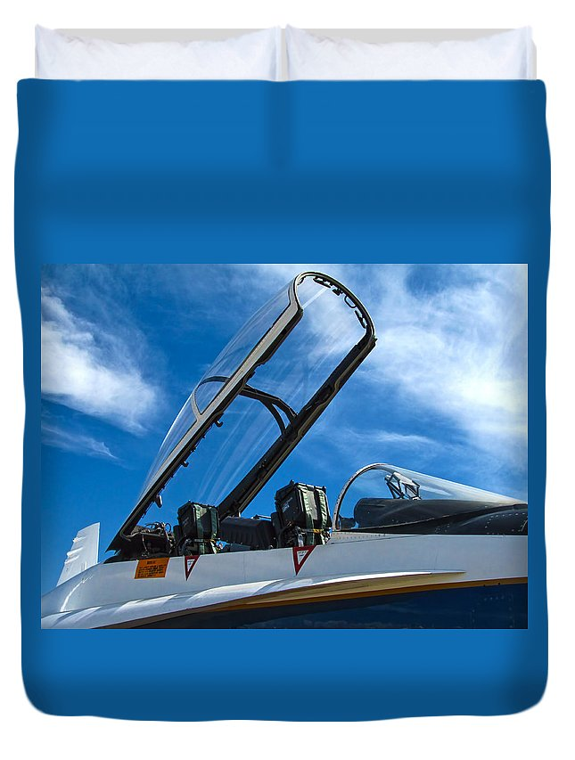 Nasa Duvet Cover featuring the photograph Nasa F-18 by Dale Jackson