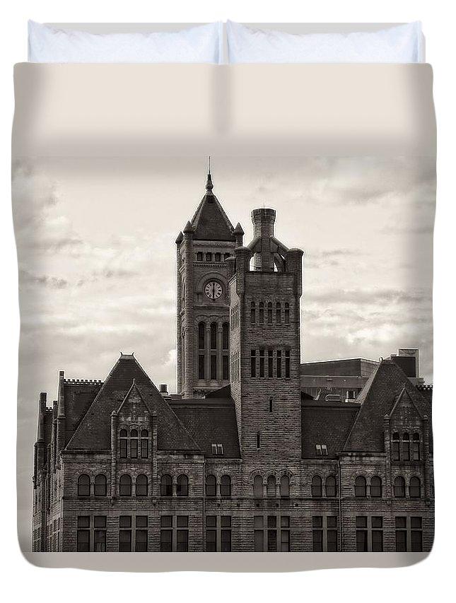 Nashville's Union Station Duvet Cover featuring the photograph Nashville's Union Station by Dan Sproul