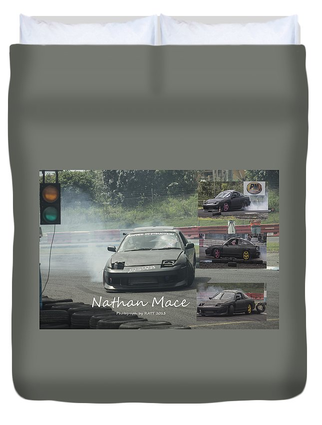Cars Duvet Cover featuring the photograph Nathan Mace by Michael Podesta