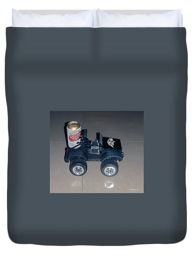 2d Duvet Cover featuring the photograph Natty Boh by Brian Wallace