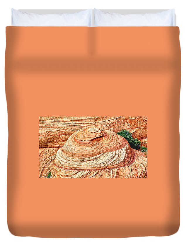 Canyon De Chelly Navajo Tribal Park Duvet Cover featuring the photograph Natural Abstract Canyon De Chelly by Bob and Nadine Johnston