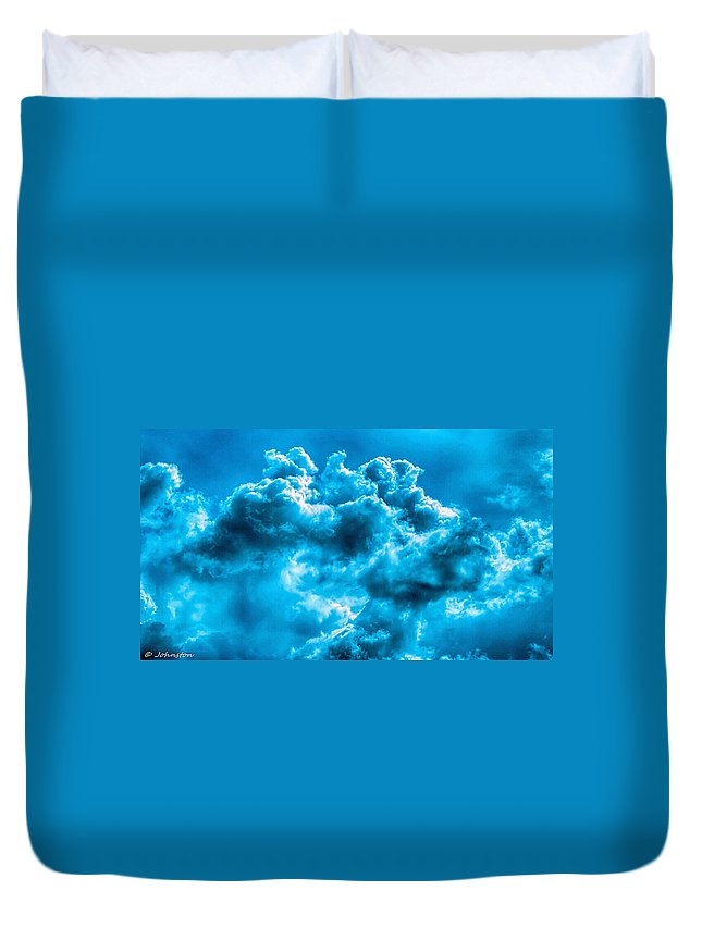 Day Duvet Cover featuring the digital art Natural Abstract Creations No 101 by Bob and Nadine Johnston