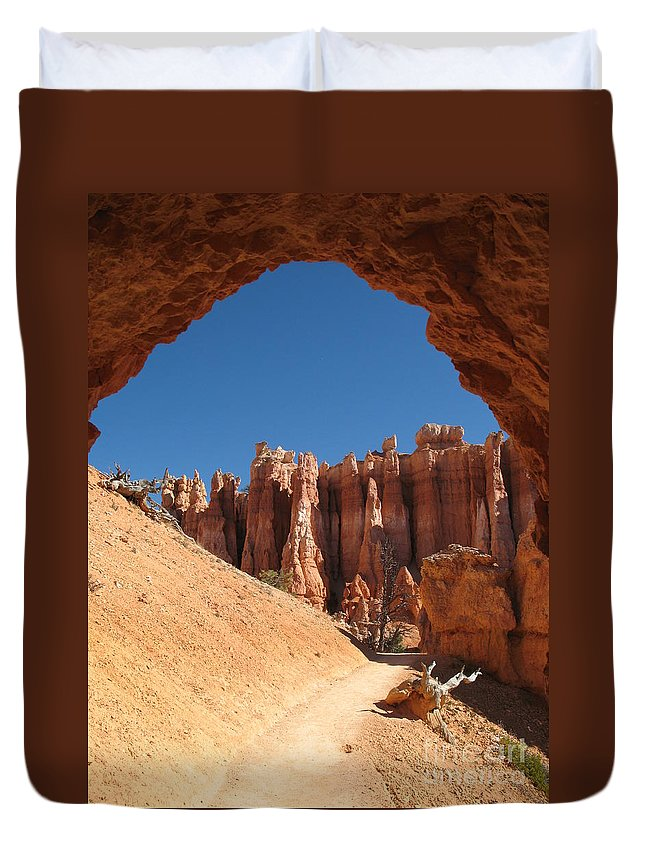 Arch Duvet Cover featuring the photograph Natural Archway - Bryce Canyon by Christiane Schulze Art And Photography