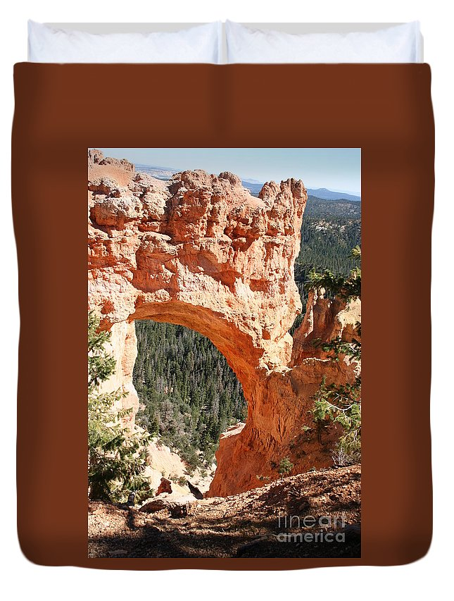 Bridge Duvet Cover featuring the photograph Natural Bridge Bryce Canyon by Christiane Schulze Art And Photography
