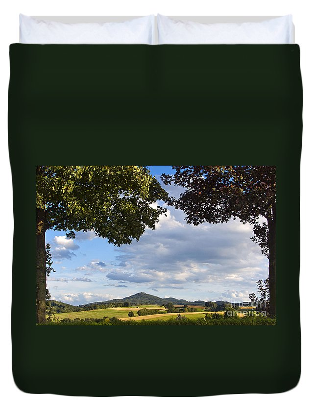 Oelberg Duvet Cover featuring the photograph Natural Frame by Maria Ismanah Schulze-Vorberg
