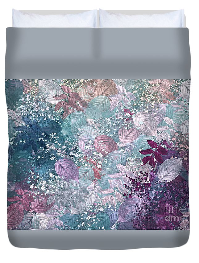Abstract Digital Art Duvet Cover featuring the digital art Naturaleaves - S1002b by Variance Collections