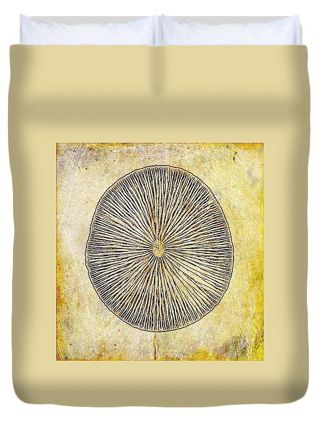 Nature Duvet Cover featuring the digital art Nature Abstract 1 by Maria Huntley