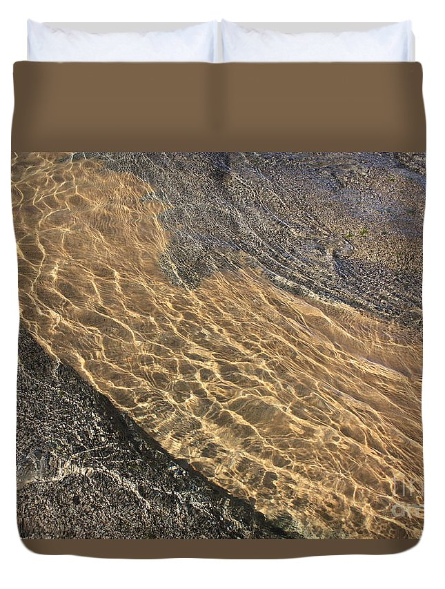 Lake Tahoe Duvet Cover featuring the photograph Nature Abstract - Clear Lake Tahoe Water by Carol Groenen