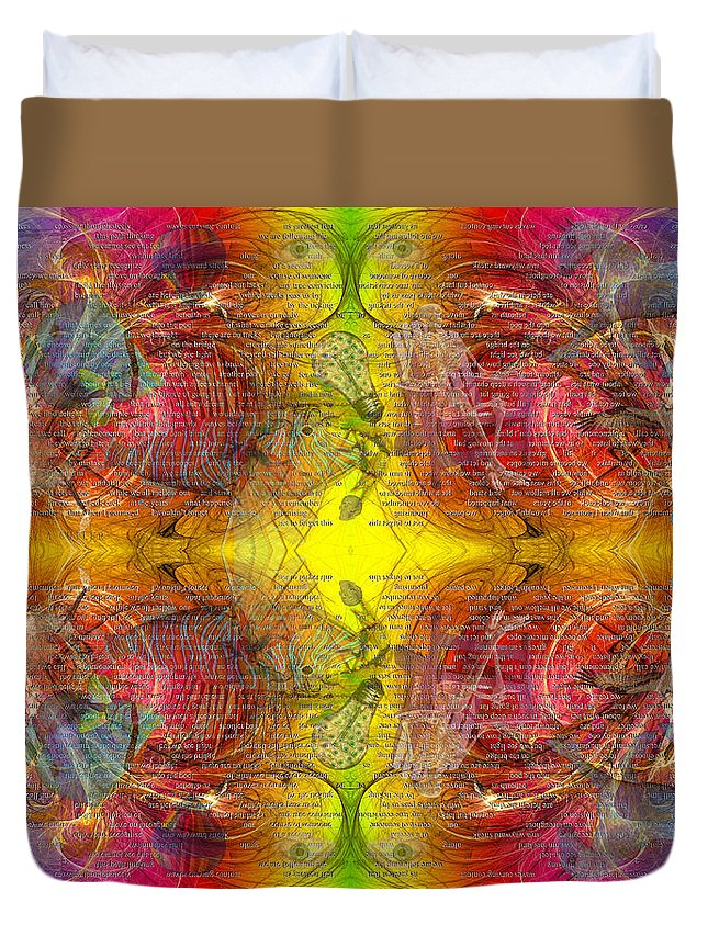 Fractal Duvet Cover featuring the digital art Nature Of Awareness by Betsy Knapp