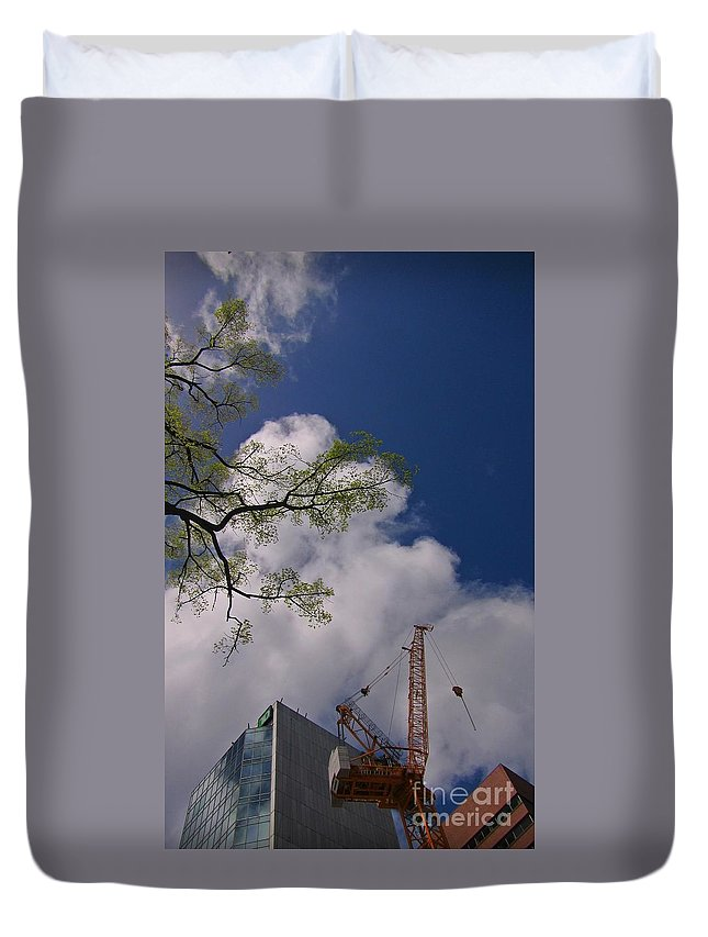 Nature Photograph Duvet Cover featuring the photograph Nature Vs Industry by John Malone