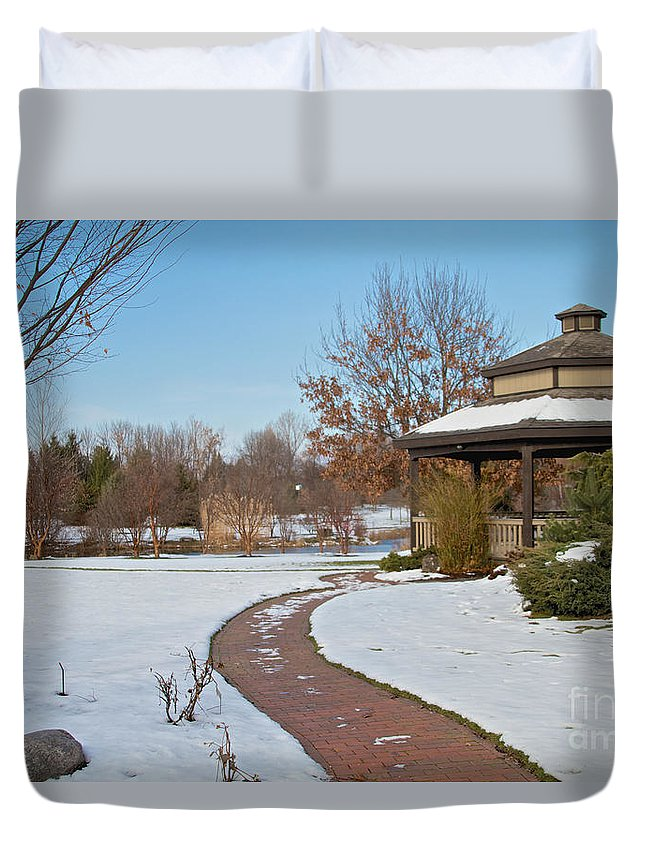 Winter Duvet Cover featuring the photograph Nature Walk by William Norton